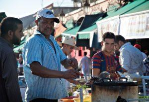 Food stall on Jemaa el-Fnaa square