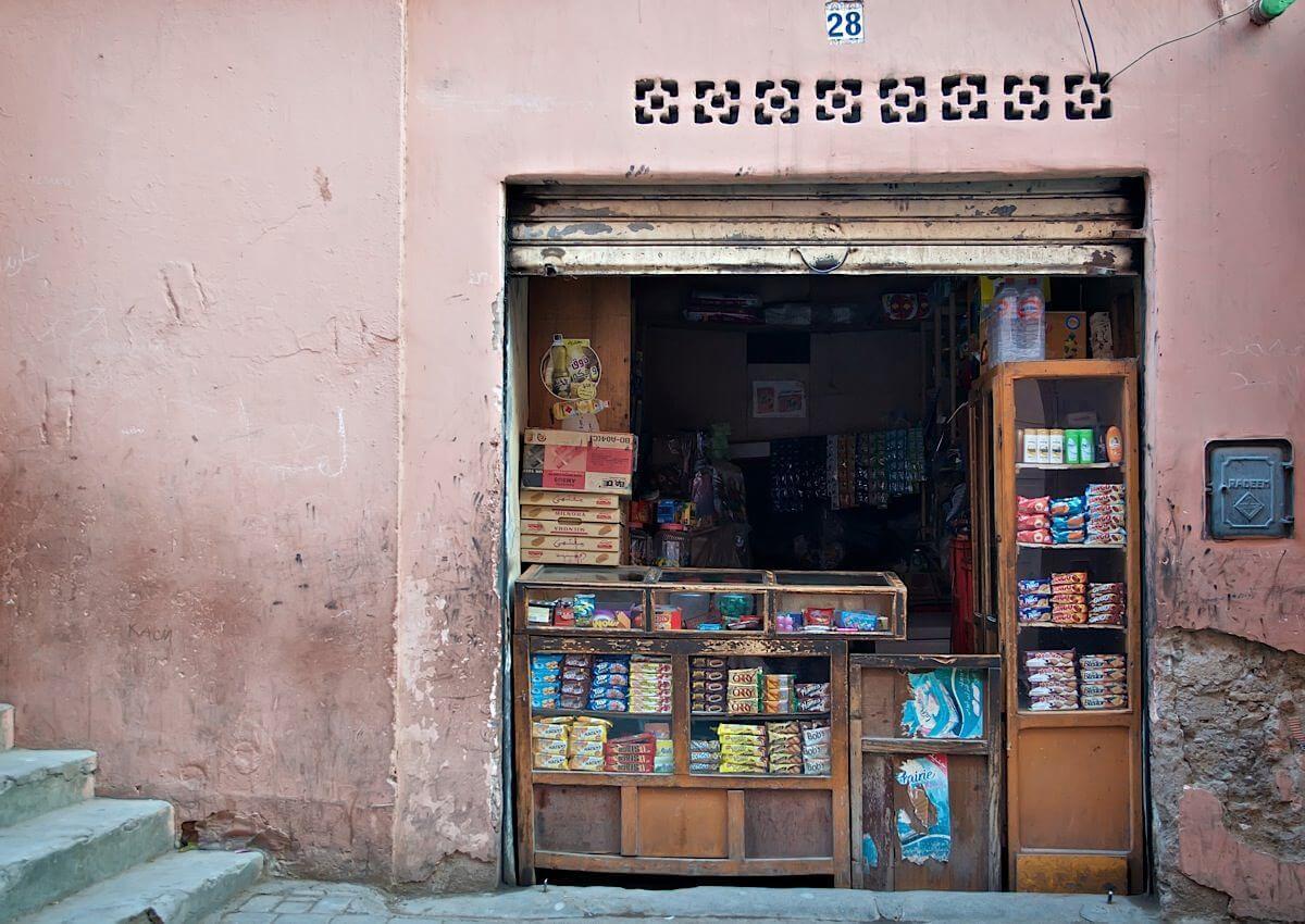 Tiny shop in Medina; Marrakech