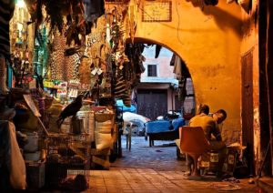 Afternoon break on the souk