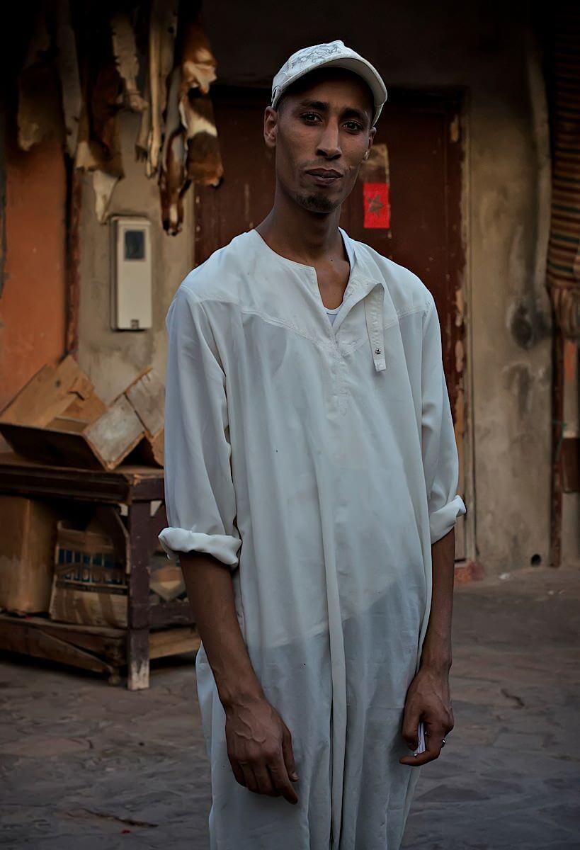 Portrait of a Berber pharmacist