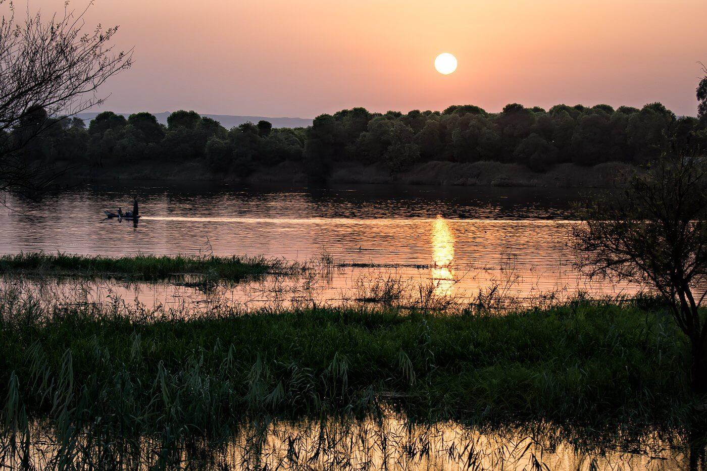 Sunset over the Nile, Luxor, Egypt - Photo by Zed Sindelar of CuriousZed Photography