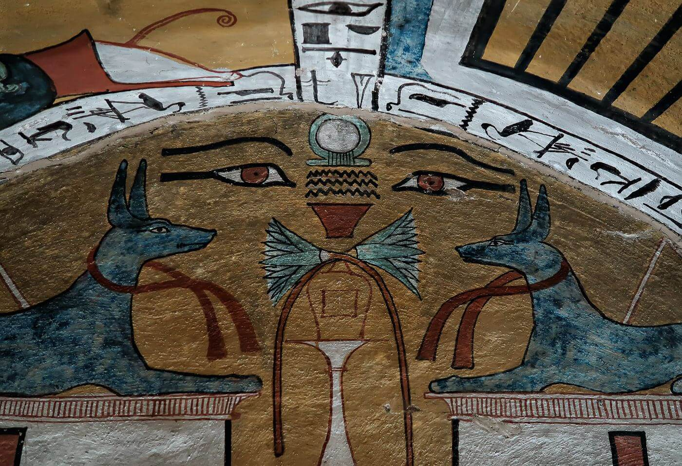 Tomb painting at Deir el Medina, Luxor, Egypt - Photo by Zed Sindelar of CuriousZed Photography