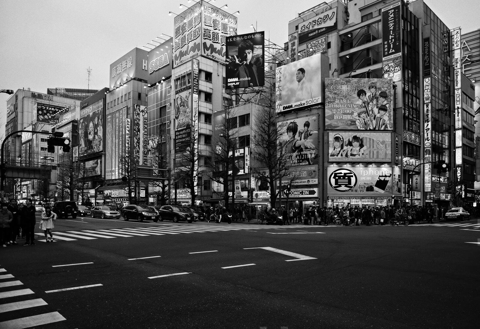Busy street at Akihabara, Tokyo - Photo by Zdenek Sindelar of CuriousZed Photography