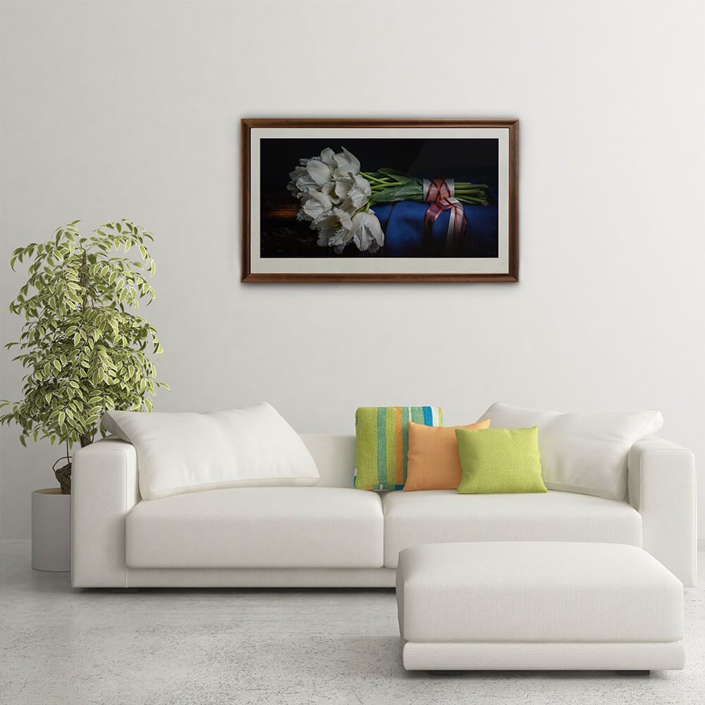 White-Tulips-framed-wall-art-CuriousZed-Sindelar