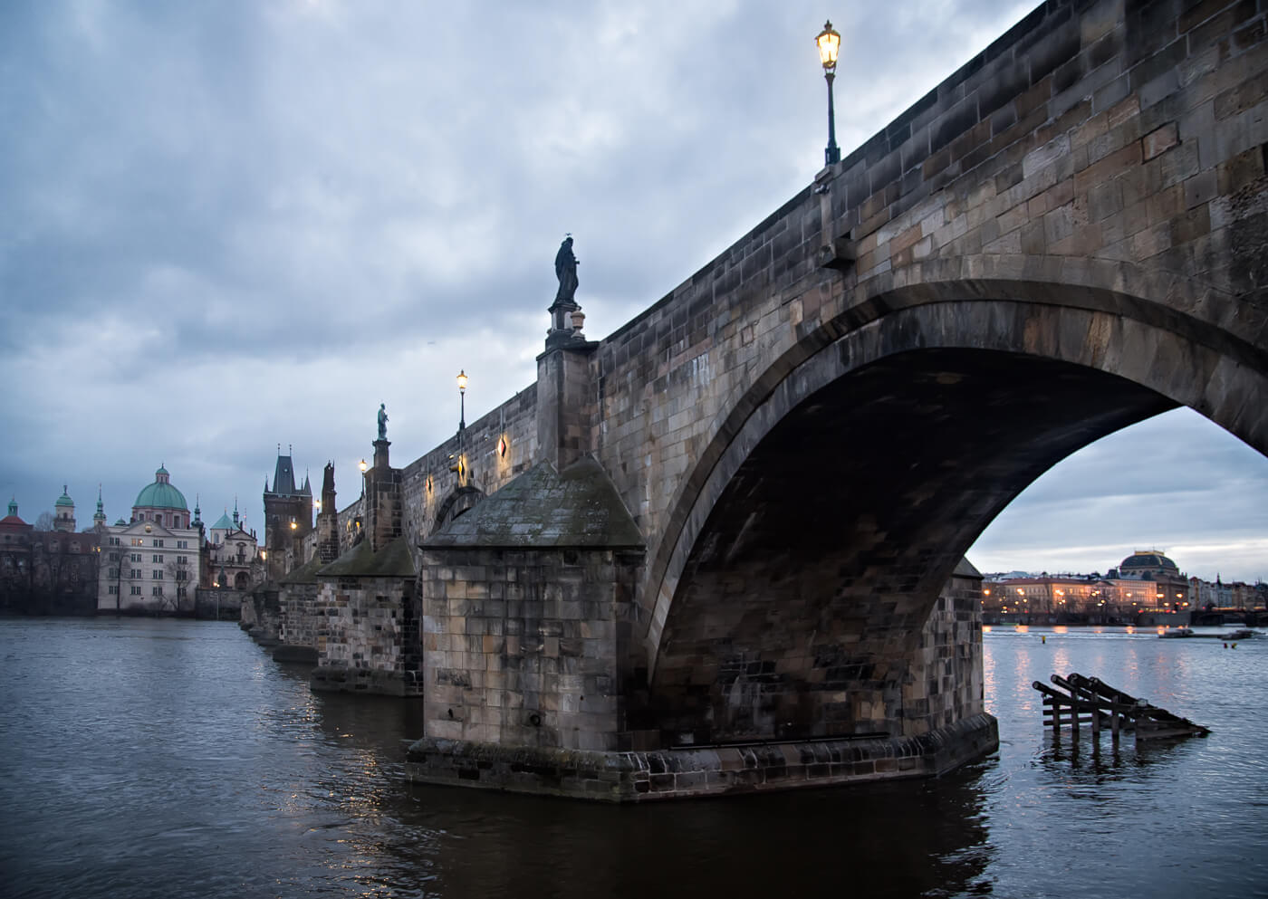 Charles Bridge over the Vltava river, Prague - Photograph by Zdenek Sindelar / CuriousZed